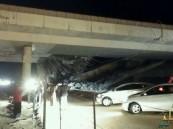 """بالصور … سقوط كوبري """"التسهيلات"""" على طريق """"الرياض – الدمام"""""""