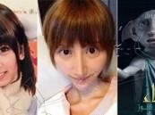بالصور …. فتاة يابانية تتحول إلى دوبي قزم هاري بوتر