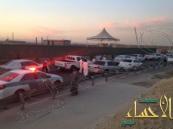 بالصور.. مرور شرق الرياض يطيح بـ 10 مفحطين و34 سيارة