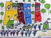 أطفال مدرسة عمار بن ياسر يرسمون أفراح الوطن