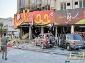 بالصور.. وفاة وإصابة 12  شخص إثر انفجار اسطوانة غاز في مطعم بالرياض