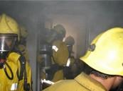 """نجاة """" أسرة """" من حريق أندلع بمنزلهم في مدينة المبرز"""