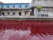 بالصور … نهر من الدم يظهر فجأة بالصين في ظاهرة غريبة تذهل العلماء