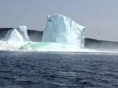 بالفيديو … انهيار جبل جليدي