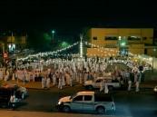 """بالصور… أهالي المبرز يحيون أفراح العيد بـ""""العرضة"""""""