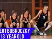 بالفيديو … لاعب سلة في عمر الـ 13 بطول 2.20 سم