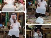 """صورة خادم الحرمين مع حفيديه تثير الإعجاب على """"تويتر"""""""