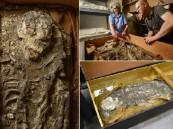 """بالفيديو.. هيكل """"نوح"""" العظمي يظهر من الطين بعد 6500 عام"""