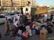 """سمو """"مُحافظ"""" الأحساء يدعم حملة """"نصرة السوريين"""".. و الأحسائيون يملؤون """"19"""" شاحنة"""