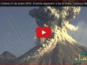 """بالفيديو .. مشهد مهيب لانفجار بركان """"النار"""" في المكسيك"""