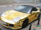 ظهور أول سيارة بورش ذهبية في المملكة