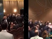 بالفيديو…عراك بين الوفدين السوري واللبناني في مؤتمر المحامين العرب بالقاهرة