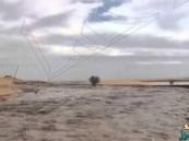 بالفيديو… سيول وأنهار جارية وسط رمال الربع الخالي
