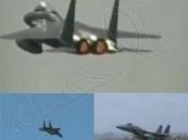 بالفيديو.. طيار سعودي يستعرض بمقاتلة إف 15 فوق أسلحة الحوثيين
