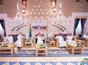 بالصور… الملك يستقبل ولي عهد البحرين وولي عهد أبوظبي ورئيس الوزراء القطري ووزير داخلية الكويت