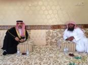 بالصور ..الأمير عبدالعزيز بن جلوي يعزي الدكتور حمد المري