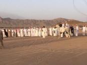 """بالفيديو .. شاهد كيف استقبلت قبائل """"نجران"""" قوات الحرس الوطني"""
