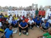 نجوم شعلة هجر وأندية الأحساء القدامى في مباراة ودية مع الجالية السودانية