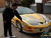 بالصور… إيراني يغلف سيارته بأوراق الذهب ويعرضها للبيع بمبلغ خرافي