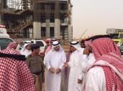 بالصور.. انهيار مبنى في جامعة القصيم .. والأمير فيصل بن مشعل يتفقد الموقع