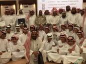 """بحضور الأباء.. ثانوية """"الشيخ محمد بن عبد الوهاب"""" بالحرس الوطني تكرم متفوقيها"""