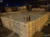 احباط محاولة تهريب أكثر من (19) ألف زجاجة خمر بجمرك البطحاء