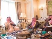 """بالصور… """"سعود الفيصل"""" يستقبل ولي العهد وولي ولي العهد في باريس"""