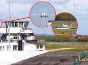 بالفيديو.. شاهد ما فعله طيار إماراتي حين فوجئ بطائرة على الممر