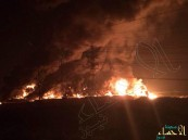 بالفيديو والصور … ألسنة النيران تشتعل في إحدى الشركات الكبرى في الشرقية