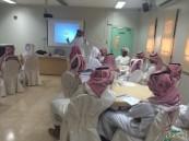 """مدرسة الملك خالد الثانوية بالهفوف تنفذ ورشة مبادرة """" أنا سفير """""""