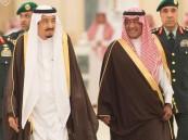 الملك يستقبل الأمراء ورئيس مجلس الشورى والعلماء
