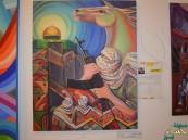 """المعرض التشكيلي""""تمازج"""" بفنون #الأحساء يحقق أمنية الشهيد """"رماح"""""""