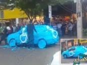 شاهد.. كيف عاقب البرازيليون سائق وقف في المكان المخصص لـ ذوي الاحتياجات الخاصة