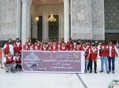 بالصور… رعاية الشباب بالأحساء تقوم على خدمة معتمري بيت الله الحرام