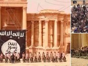 بالصور… أطفال داعش ينفذون عملية إعدام جماعية وسط آثار تدمر