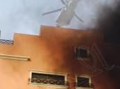 """بالصور.. حريق ضخم يلتهم مبنى سكني تابع لـ""""أرامكو"""" بالخبر يصيب 48 شخصاً"""