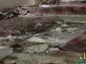 بالفيديو.. شاهد الأضرار التي لحقت بمسجد قوات الطوارئ الخاصة بأبها