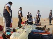 بالصور.. 10 وفيات و 62 إصابة في حادثة فرضية مروعة بطريق المطار