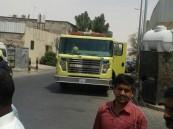 بالصور… الدفاع المدنى ينقذ حياة أسرة من حريق بالعيون