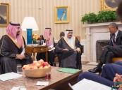 بالصور.. #الملك_سلمان و أوباما يعقدان جلسة مباحثات رسمية..وصدور بيان مشترك