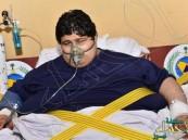 صورة حديثة لمريض السمنة الشاعري بعد انخفاض وزنه من 600 إلى 120 كجم