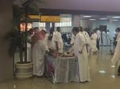 """بالصور… """"الضيافة"""" عنوان الرحلات الأولى لحجاج بيت الله من مطار #الأحساء"""