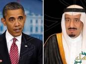 خادم الحرمين يتلقى اتصالاً هاتفياً من رئيس الولايات المتحدة الأمريكية