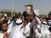 """بالصور.. أبناء #الأحساء يشيعون """"الجاسم"""" ضحية الإرهاب في #سيهات"""