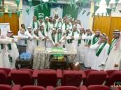 بالصور.. بر #الأحساء تكتسي باللون الأخضر احتفالاً باليوم الوطني 85