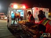 """وفاة و 20 مُصاب إثر اصطدام """"باص"""" عمالة مع شاحنة خرسانة بالشرقية"""
