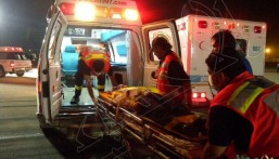 """وفاة و """"8"""" إصابات في حادث تصادم على """"طريق الجبيل"""" الظهران السريع"""