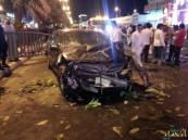 بالصور.. حادث كارثي يشل الحركة المرورية في مبرز #الأحساء