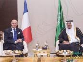 بالصور.. خادم الحرمين يلتقي وزير الخارجية الفرنسي على هامش قمة الـ 20
