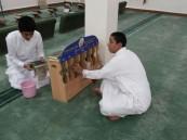 متوسطة المراح للبنين تقوم بتنظيف المساجد